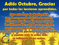 Adiós Octubre...Bienvenido Noviembre
