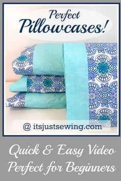 The easiest pillow case!  Perfect for gift giving with Christmas right around the corner!