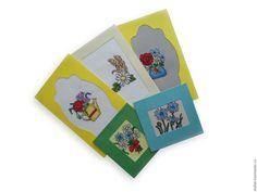 Купить Открытки с вышивкой, открытки в подарок к покупке, 8 марта, весна - открытки с вышивкой