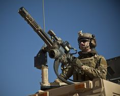 Live fire training with the Mark 44 minigun in Farah province, Afghanistan, Dec/2012. Photo by Sgt. Pete Thibodeau
