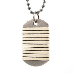 Army Military Dog Tag Mens Pink Suede Leather Pendant Necklace Lobster Clasp Length 13