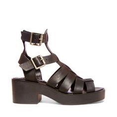 Steve Madden SCHOOLZ (Black Leather)