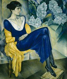 Natan Altman, Portrait of the Poet Anna Akhmatova, 1914. Saint Petersburg, State Russian Museum