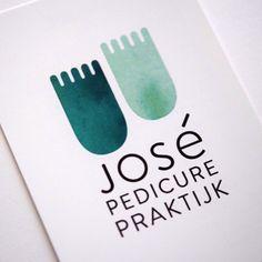 Logo José Pedicurepraktijk Made by Studio Enkelvoud Letter Logo Maker, Clinic Logo, Cosmetic Logo, Medical Logo, Branding, Cool Lettering, Studio Logo, Illustrations And Posters, Logo Design Inspiration
