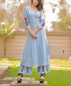 Beautiful cotton kurti with beautiful motives