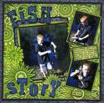 Scrapbook.com Layout Projects: Nature...fish story