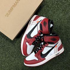 Air Jordan 1 OFF WHITE Chicago Air Jordan Sneakers, Jordans Sneakers, Air Jordans, Sneaker Games, Jordan 1, Off White, Chicago, Fashion, Moda