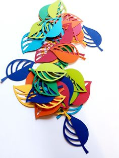 Best 12 Leaf / Petal Die Cut Outs ( Scrap Booking, Collages, Party Decoration, Table Scatter, Confetti )