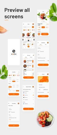 Web Design, App Ui Design, Food Design, Interface Design, Design Art, Graphic Design, App Wireframe, Wireframe Design, Restaurant App