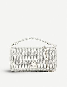 404c3d9785c MIU MIU Cloqué-texture leather clutch bag