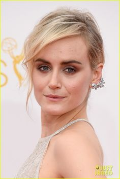 Taylor Schilling in Forevermark ear cuff at the Emmys 2014