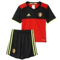 2016 Belgium Home Football Shirt Red For Kids