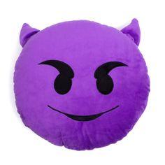 Purple Devil Emoji Pillow – Shelfies - Outrageous Clothing