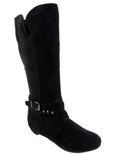 Journee Women's Link-19 Slouch Boots Faux Suede Black EU Size 36 1/2; US 6.5 M #Journee #SlouchBoots #Casual