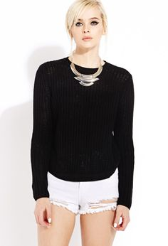 Be Seen Open-Knit Sweater | FOREVER21 - 2000063041
