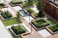 Landscape Elements, City Landscape, Landscape Architecture, Landscape Design, Architecture Design, Bubble Diagram Architecture, Linear Park, Architecture Concept Drawings, Public Garden