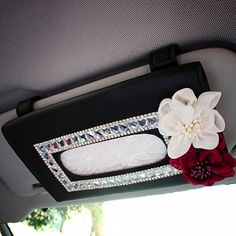 Car Sun Visor Organizer Tissue Bag with Bling Flowers. does this make me look any younger? Toyota Corolla, Carros Toyota, Lilly Pulitzer, Used Cars Movie, Wheel Logo, Girly Car, Cute Car Accessories, Pt Cruiser, Car Goals