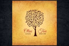 Olive logo by Restaurant Menu & Logos on @creativemarket