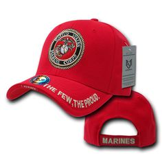 567c23a896f Mickey s Surplus - Rapid Dominance Red Marines Logo Ball Cap