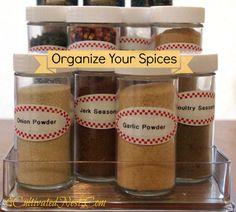 I think a lot of us are trying to better utilize the space that we have and I know that organizing your spices is a challenge! I showed you some great spice organization tips in this post 10 Ways to Organize Your Spices . So I had plenty of inspiration for how to tackle my own spice cabinet organization. My house was built in the late 1960's and this cabinet close to the stove is pretty typical for houses of that era and basically where everyone that I know keeps their spices. Old house…