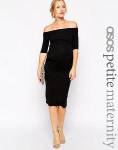ASOS Maternity PETITE Bardot Dress With Half Sleeve at asos.com cc33a6d4fdb
