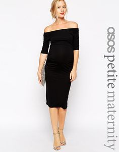 ASOS Maternity PETITE Bardot Dress With Half Sleeve at asos.com 8d0f4b21f90