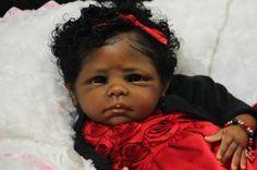 "Another beautiful Tanisha Crocket Gorgeous Reborn Ethnic AA Baby Girl Maya Sculpt ""The Cradle"" by Linda Murray   eBay"