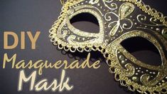 DIY: Masquerade Mask (from scratch) this is amazing!! Can't wait to try this.