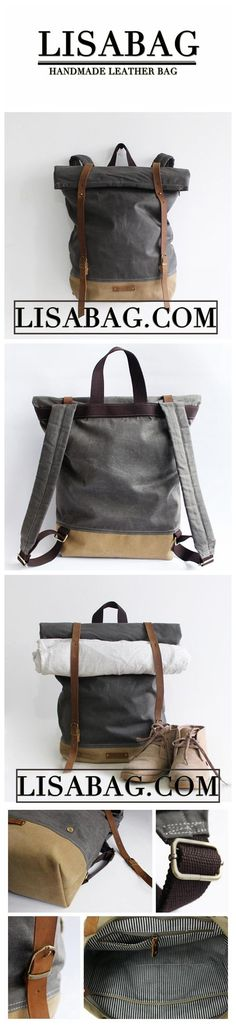 Travel Around The World Hiking Backpack, Laptop Backpack, Travel Backpack, Top Backpacks, School Backpacks, Leather Backpacks, Waxed Canvas, Canvas Leather, Handmade Bags