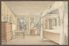Interior of a Bedroom, Cooper Hewitt Museum