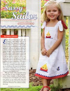 #136 2011 - Sassy Sailor Sundress, sz. 3-7, designed by Kathy Dykstra