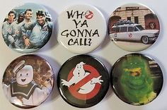 Ghostbusters Badge Button Pin Party Favors Stocking Stuffers set of 6