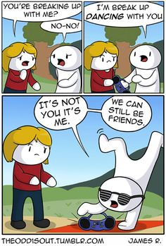 These Funny Comics By Have The Most Unexpected Endings When he was in high school, James Rallison wasn't partying or winning football games like his older brother. Instead, he created the funniest comics ever! Theodd1sout Comics, Online Comics, Cute Comics, Funny Comics, Marvel Girls, Super Funny, Funny Cute, Deathstroke, Odd Ones Out Comics
