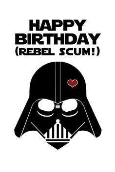 Star Wars Funny Birthday Card DIY Printable por CleverPrintables