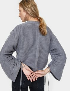 Ribbed sweater from Stelen in Grey