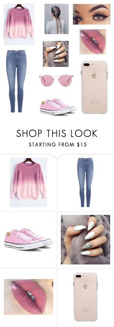 """""""cool ❤️and cute ❤️ love it"""" by zaina-i ❤ liked on Polyvore featuring Paige Denim, Converse and Oliver Peoples"""