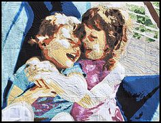 Two sisters-  This quilter does amazing work; his detail is incredible