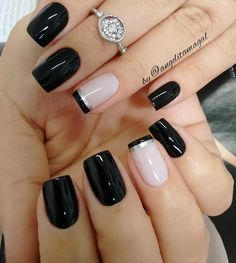 50 Awesome French Tip Nails to give your manicure another dimension - Most Trending Nail Art Designs in 2018 French Nails, French Pedicure, French Manicures, French Toes, Acrylic Nail Designs, Nail Art Designs, Nails Design, Pedicure Designs, Design Art