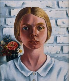 Charley Toorop (Dutch 1891–1955), Portret van Annie Fernhout, oil/canvas, 1936. Collection Van Abbemuseum, Eindhoven, Netherlands.
