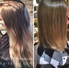 #beforeandafter #hair #aveda #avedacolor #ombre #kaisalonmn #minneapolis #minneapolishair #northloop #nolo