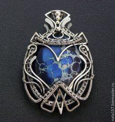"""Купить Кулон """"Королевский синий"""" - кулон, серебряный кулон, кулон из серебра, кулон с варисцитом, pendant"""