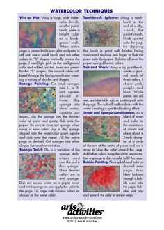 """Watercolor Techniques"" from our October 2005 issue."