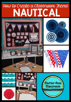 Nautical Themed Clroom Ideas Printable Decorations