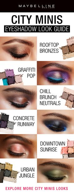 The NEW City Minis Eyeshadow Palettes feature a range of shades and shade combinations perfect for any fall makeup look you want to create!  Whether you want a bold eyeshadow look or an every day natural eyeshadow look, we've got your covered.  Click through to see more eyeshadow inspiration!