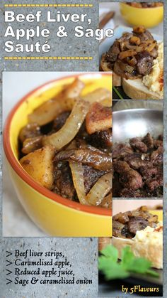 Ideal with creamy scrambled eggs for brunch. Even the doubtful will return for seconds. Creamy Scrambled Eggs, Caramelised Apples, Beef Liver, Apple Juice, Pot Roast, Tart, Fries, Paleo, Brunch