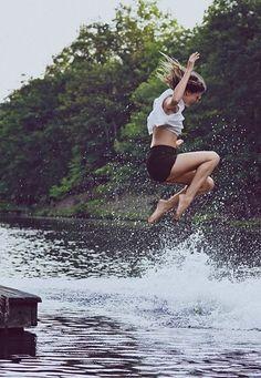 Making a splash. And having no regrets.