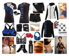 """""""UFC 195 vs Ian McCall"""" by mrsbrocklesnar ❤ liked on Polyvore featuring Reebok, UFC and Beats by Dr. Dre"""