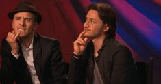 James & Michael .gif ...they look like two little boys! lol