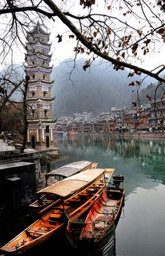 ancient town of Fenghuang, Hunan, China