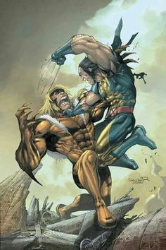 X-Men Cover: Wolverine and Sabretooth Marvel Comics Poster - 30 x 46 cm Marvel Wolverine, Marvel Comics, Ms Marvel, Heros Comics, Comics Anime, Marvel Art, Marvel Heroes, Comic Book Artists, Comic Art